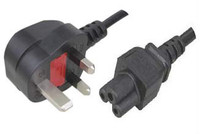 UK power cable with assembled fuse plug ST3-M,BSI approved plug