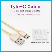 aluminium alloy nylon colorful micro braided usb cable usb 3.1 type c cable micro usb charging cable for type C mobile phone