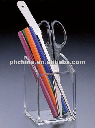AN-380 Clear Acrylic Pen Holder,Pmma/top grade Scissors Stand(Competitive Price)