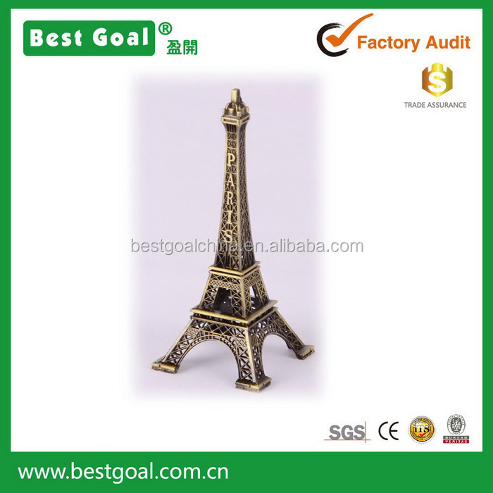 2015 Antique Eiffel Tower design metal arts and craft