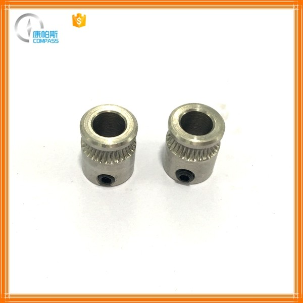 MK8 stainless steel extruder driving gear for 1.75mm 3mm filament 3D printers parts