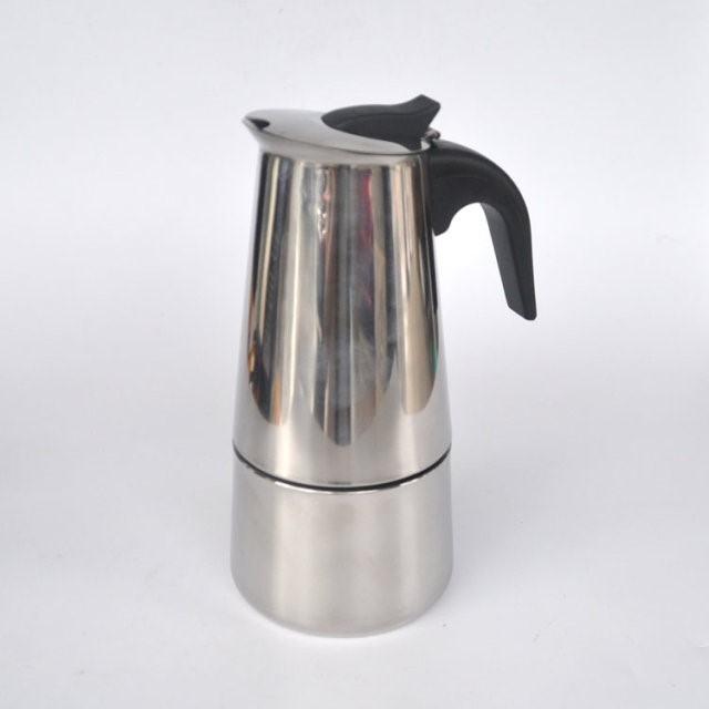 Stainless Steel Moka Express 4-Cup Coffee Maker Stovetop Espresso Pot