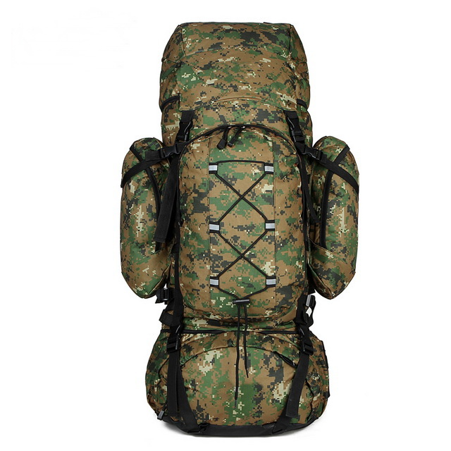 Camouflage multifunction explorer men hiking camping travel expandable daypack heavy-duty bag backpack