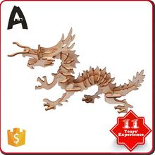 Cheap price hot factory supply diy 3d wooden puzzle toy dolphin