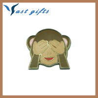decorative objects hat pin monkey emoji lapel pin for t-shirt