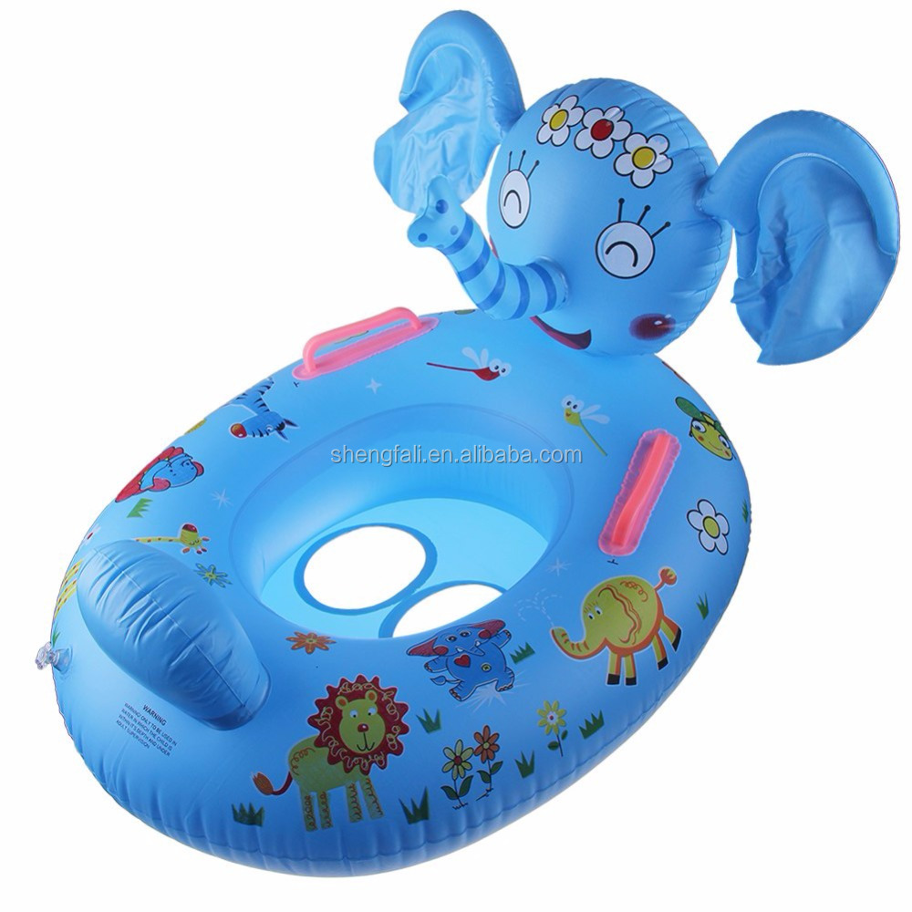 Inflatable Toddler Baby Swim Ring Float Seat Swimming Seat with Canopy