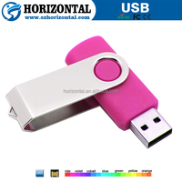 2GB plastic swivel usb flash drive with logo