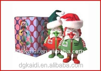 Popular cheap Christmas gift funny Santa Claus cartoon figure toy