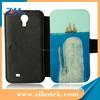 DIY top quality Sublimation leather phone case for samsung Galaxy S4 i9500
