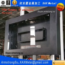 XAX189TVE outdoor out door water resistant weather stainless steel signage monitor enclosure