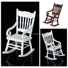 FQ brand Hot sale mini 3D baby European mini wooden rocking chair toy