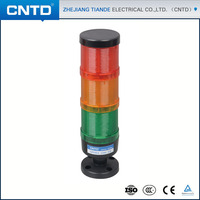 CNTD Black base Multi Color 220V 70MM 3 colors Rotary Flashing LED Tower Warning Light CPT7