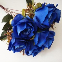 Artificial Royal Blue Rose flowers