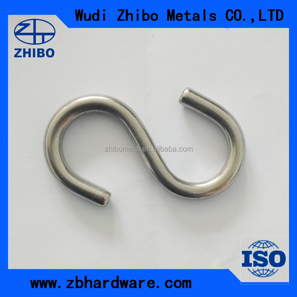 China supplied high quality 304stainless steel s shape <strong>hook</strong> s type round s <strong>hook</strong>