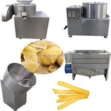 Stainless Steel Semi-automatic French Fries Machine/fried Potato Chips Production/frozen French Fries Production Line