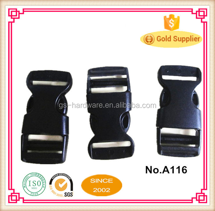 Colored plastic side release buckle with factory favourable price, 20MM A116
