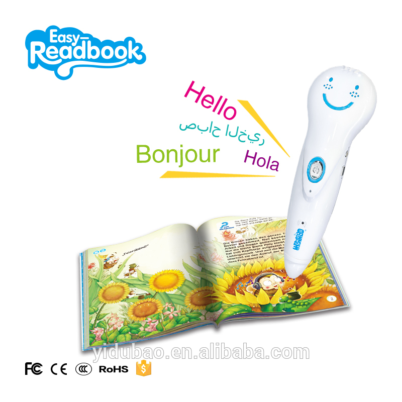 Electronic educational learning machine touch reading pen for blind