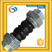 100 percent proficency acid resistant in usa double arches threaded rubber expansion joints