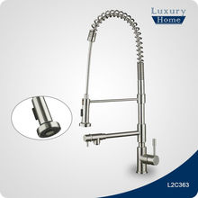 Stainless steel 3 way pull out retractable kitchen faucet