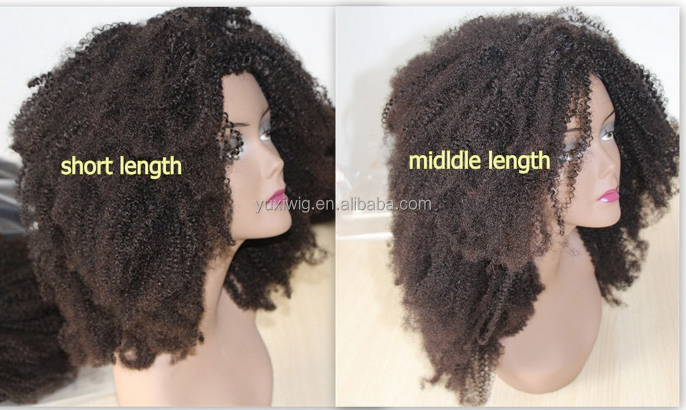 Hot sale U-part afro kinky human hair wig for black woman