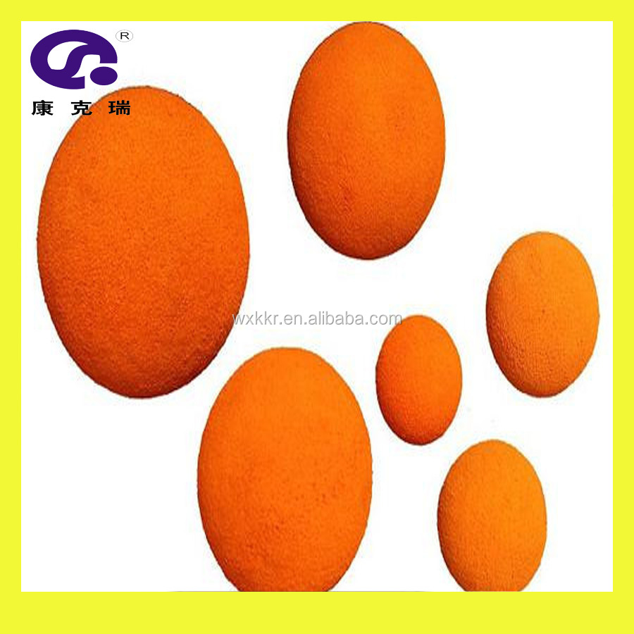 Hot offering schwing concrete pump spare parts DN100 soft rubber cleaning spong ball / bullet for delivery pipe