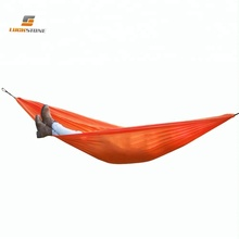 LUCKSTONE one person portable folding parachute camping sleeping hammock in a bag