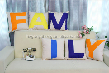 Minimalist fashion creative combination Letter pillow,wholesale custom DIY Cushions