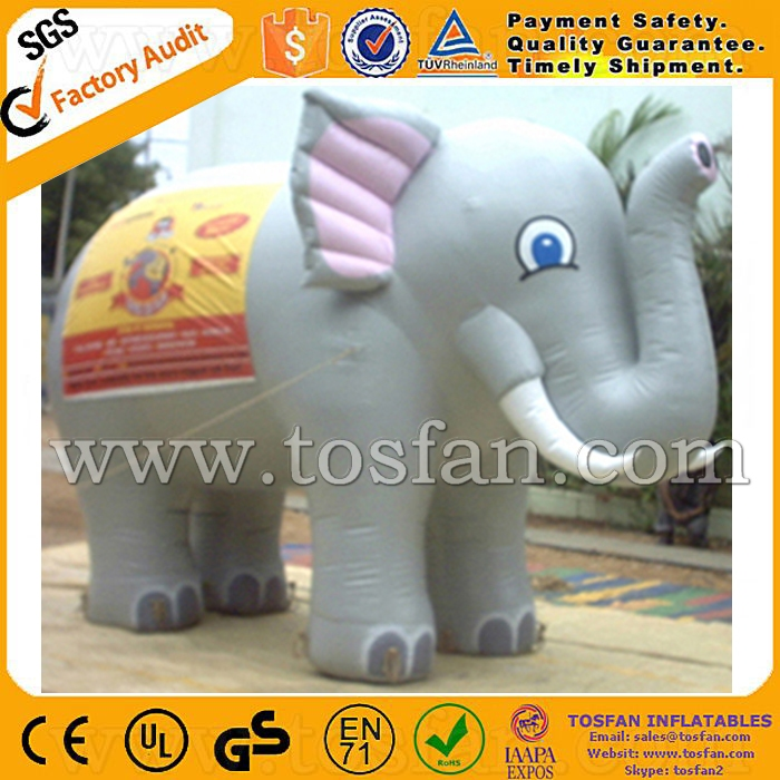 Customized inflatable elephant balloons inflatable moscot balloon for promotion F1011