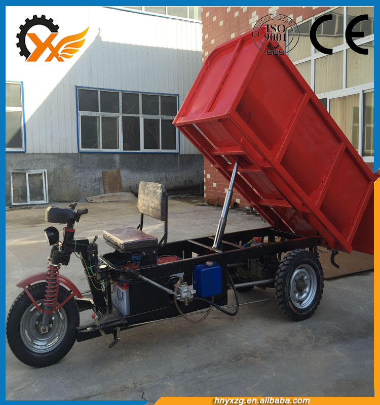 India fast delivery drive open cabin cargo electric express tricycle loader