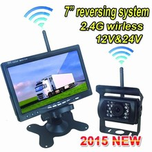 hot sell wireless sensor reverse system 2.4G wireless waterproof night vision reversing camera for bus passenger truck lorry