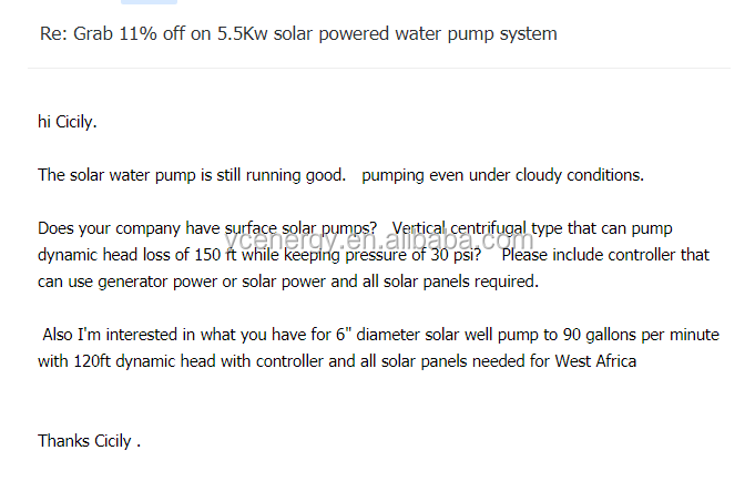 Solar powered water pump systems for agricultural applications