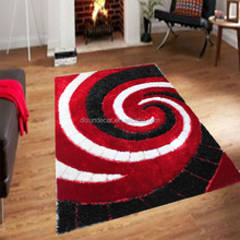 China 3d design silk shaggy polyester area carpet rug prices