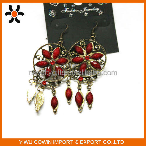 Fashionble earring jewelry,classic cheap gold peral earrings