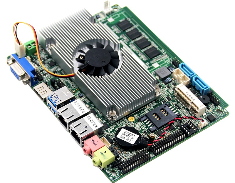 3.5inch embedded pc motherboard with core i5-5200U processor and 4GB RAM