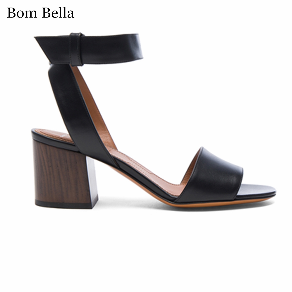 BBLA78 2017 New design women low heel high quality leather <strong>sandals</strong>