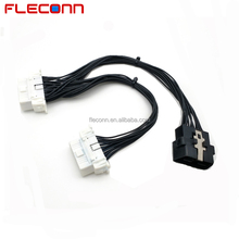 1 male to 2 female OBD 2 OBDII OBD2 Y Splitter Cable for TOY OTA Automotive