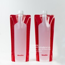 BPA free foldable wine bottle 750ml