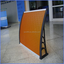 High impact strength wooden door canopies with nice appearance