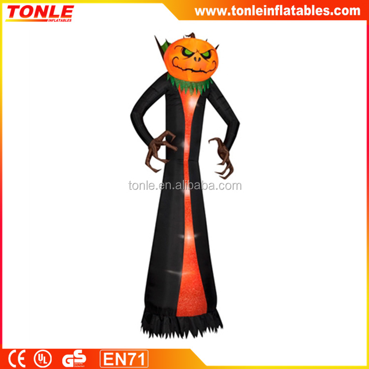 custom giant inflatable Pumpkin Reaper Halloween decoration with led light