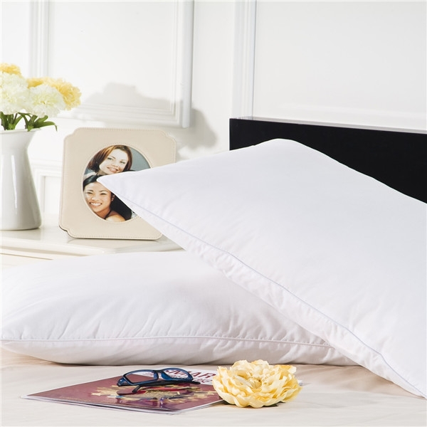 down pillow with pillow display stand