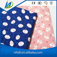 Chineses fabrics textiles soft cartoon print 100% cotton shirt fabric