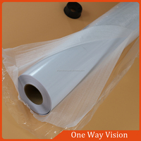 Glass Sticker PVC Self Adhesive One Way Vision For Window Advertising