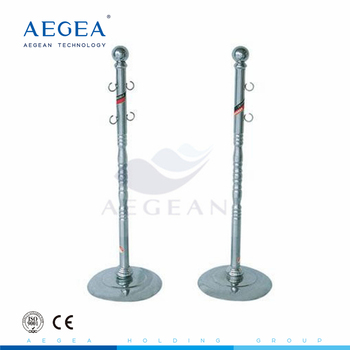 AG-SS078 portable 304 stainless steel frame hospital metal pole stand
