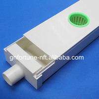 low cost square plastic vegetable plant pipe