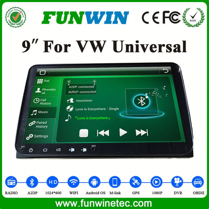 Funwin Double Din Pioneer Car Audio System DVD Player With GPS NavigationFor VW Universal Cars