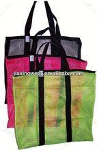 Hot sales polyester mesh food bag for shopping and promotiom,good quality fast delivery