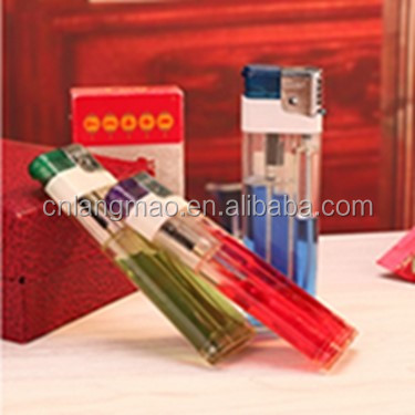 Good quality refillable disposable transparent lighter