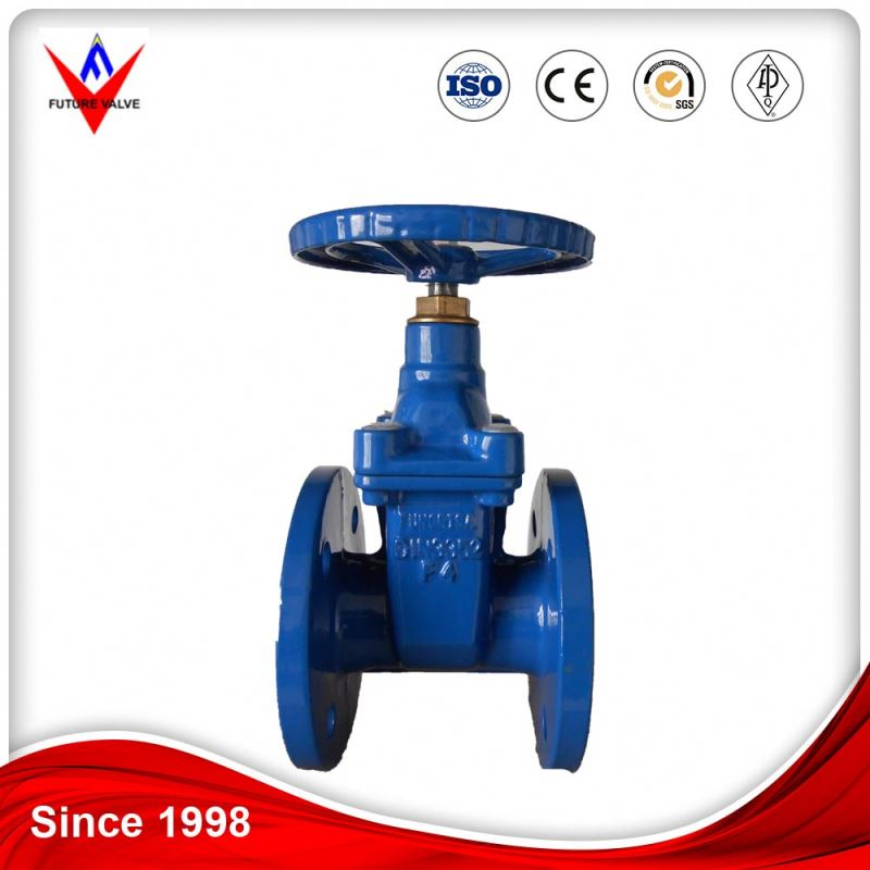 cast iron handwheel non-rising stem metal seated gate valve