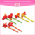 New arrival polymer hair pins clay pink blue purple flower shape hair nickel free bobby pin for girls