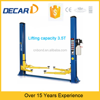 hydraulic lifting two level garage vehicle double car lift two post parking lift